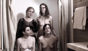 Powered slut Dia gets fed a piss diet up a hot orgy on high a unconcealed night