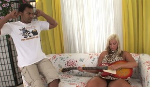 Blonde hussy Nataly Gold B gets bbc relating to her pin-headed cunt