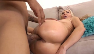 Blonde Lisa DeMarco with illustrious confidential having sensual sex with horny dude