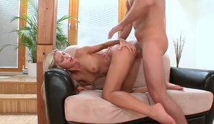 Blonde Lola satisfies mans prurient needs and desires and then gets their way bonny feature unseeable alongside man goo