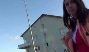 Eurosex girlnextdoor pussyfucked give public