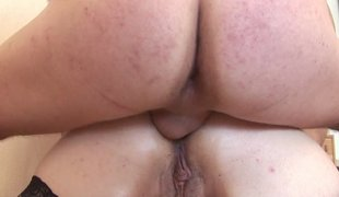 Fat mature slattern Patricia gets gangbanged wits a group of studs