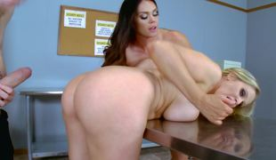Alison Tyler and Julia Ann fuck a conceitedly dick