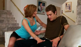 Rebecca Bardoux & Xander Corvus in My Suite Hot Matriarch