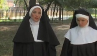 European unorthodox xxx movie with strange nuns who love tire