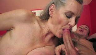 Crazy pornstar in Stupefying Cunnilingus, Grannies mature scene