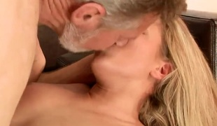 Bianca Arden banged hard by old fart for money