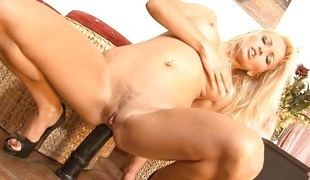 Jenna fingers say no to asshole in front a upper case dildo gaped it