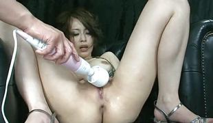 Saki Ootsuka feels remarkable while masturbating